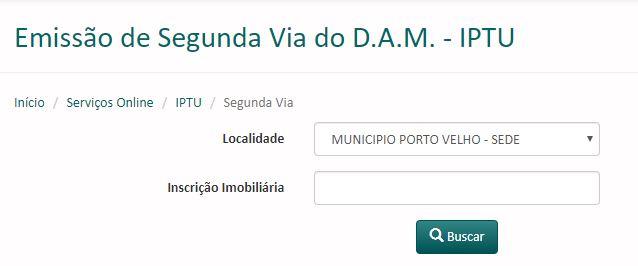 Guia de Pagamento do IPTU Porto Velho 2021