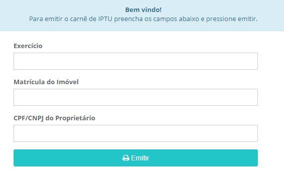 Emissão da 2ª Via do IPTU Rio Branco 2021