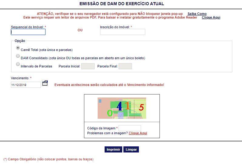 Consulta IPTU Jaboatão dos Guararapes