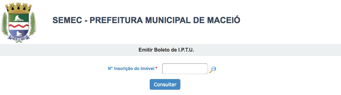 Consulta IPTU 2021 Maceió